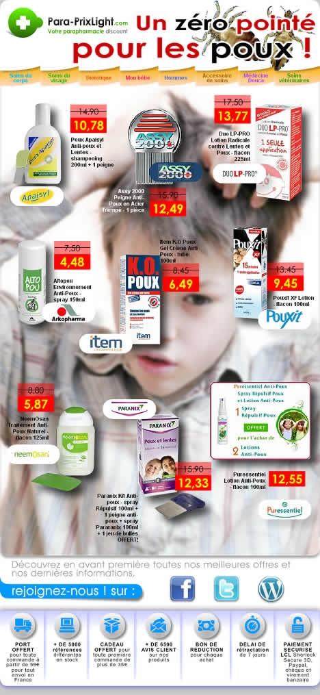 Produits anti-poux